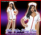 FANCY DRESS COSTUME # FEVER WHITE SEXY NURSE MED 12-14